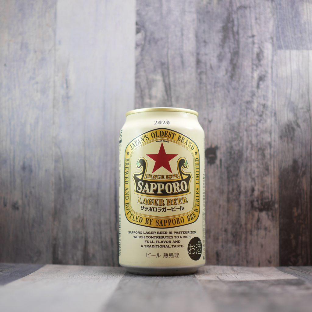 サッポロラガービールの缶正面