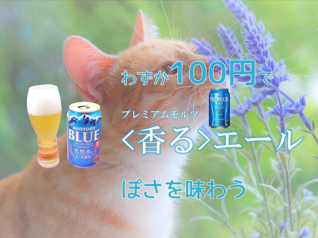 サントリーブルーのアイキャッチ画像「わずか100円で香るエールぽさを味わう」
