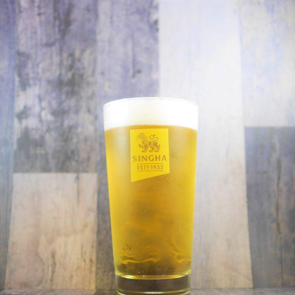 シンハービール専用グラス表